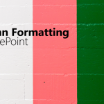 column formatting in sharepoint