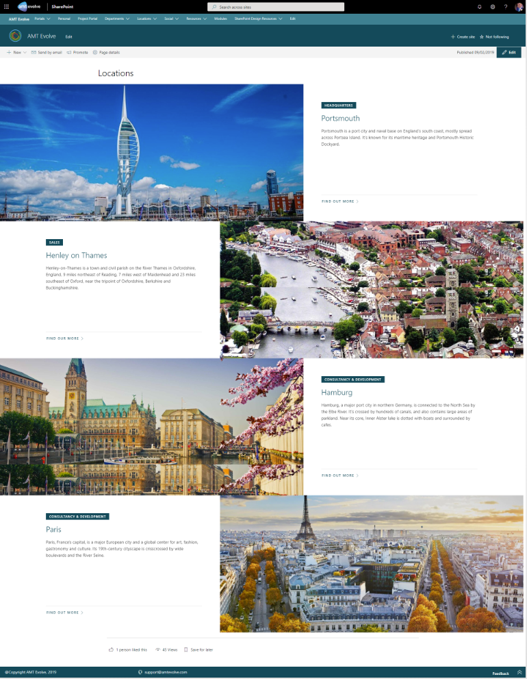 sharepoint location overview